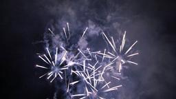 Celebration Fireworks Rockets at Night Footage