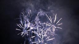 Celebration Fireworks Rockets at Night 4k Footage