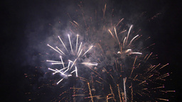 Fantasy Fireworks Rockets at Night 4k Live Action