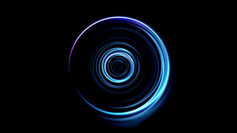 blue Lens ring flares circle Animation