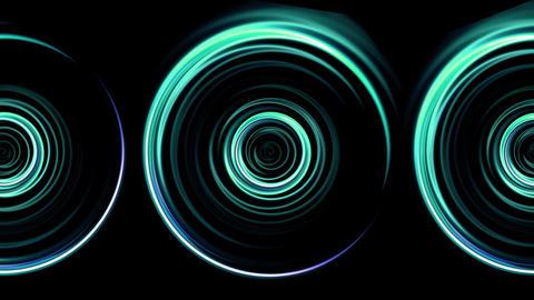 triple green rings flare pattern Animation