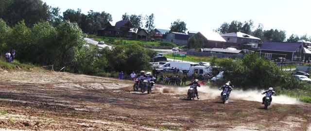 Starting motocross riders Footage