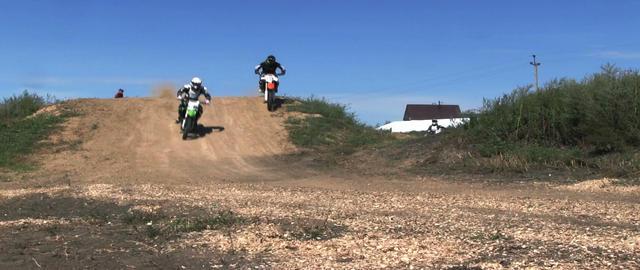 Jumping motocross racer Footage