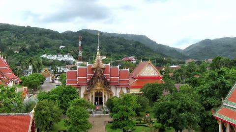 Buddhist Temple Wat Chalong stock footage