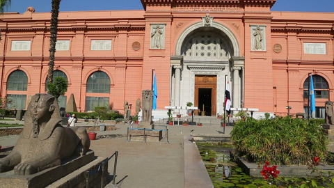 Egyptian Museum in Cairo, Egypt Live Action