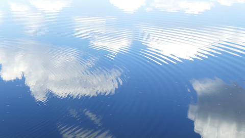 circles flow along surface of water Footage