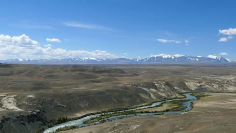Chuya River Valley landscape in Altai Mountains Footage