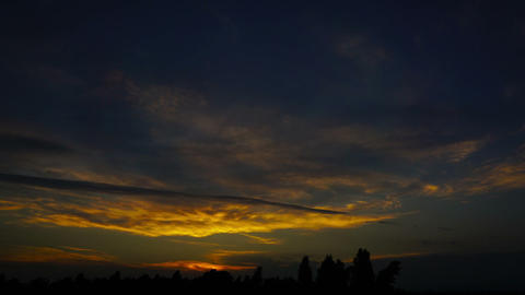 sky after sunset, timelapse Footage