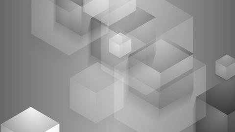 Grey moving cube shapes loopable video animation Animation