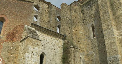 san galgano abbey exterior tilt 02 Footage