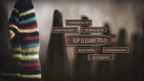 Flip Elegant Titles After Effects Template