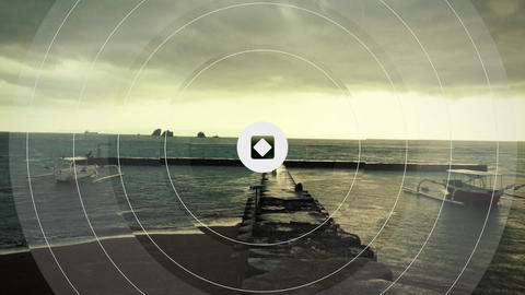 Photo Stylish Vintage Circle Offset Transition to Logo Intro After Effects Template