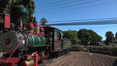 Vintage Steam Locomotive At Maui, Hawaii stock footage
