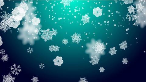 snowflakes on lightblue background, Stock Animation