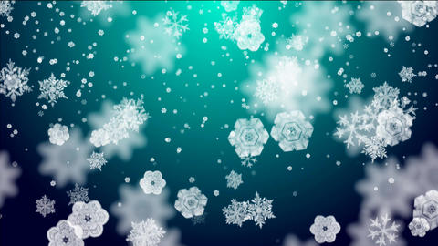 snowflakes on lightblue background Animation