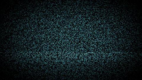TV Noise blue Footage