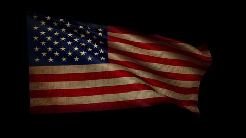 OLD FLAG USA stiff med 4k loop alfa Animation