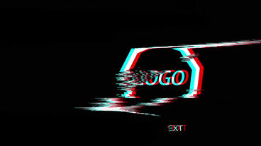 Glitch Logo Opener After Effects Template