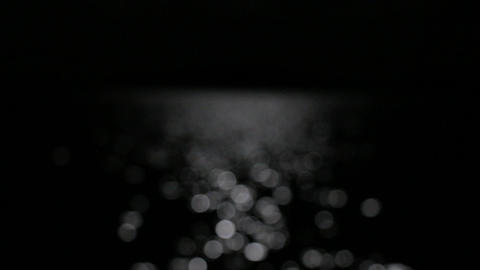 Abstract Bokeh Monlight Reflecting From Nightly Lake Motion Background stock footage