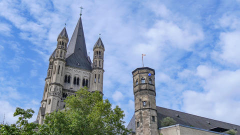 Saint Martin Church Cologne, Germany Footage