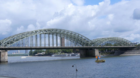 Bridge In Cologne, Germany stock footage