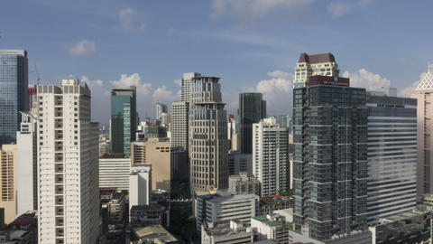 Panning Timelapse Of Over Makati, Metro Manila - Philippines Timelapse stock footage