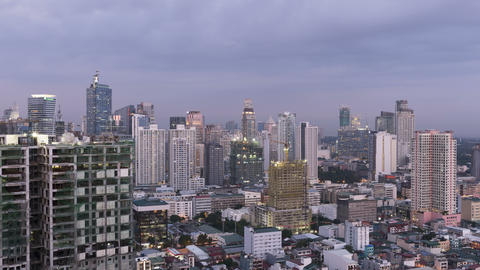 Day to Time Timelapse of Makati City - Metro Manila - Philippines Footage