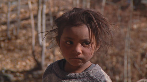Indian Child stock footage