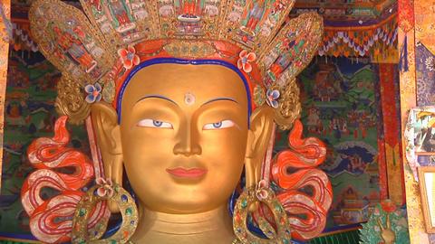 Maitreya Buddha Statue Footage