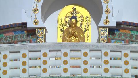 Shanti Stupa At Leh stock footage