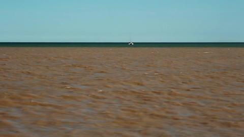 Sea And Mud stock footage