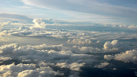 Beautiful evening aerial view of the cloudscape Footage