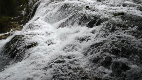 Autumn view of the Jiuzhaigou Valley waterfalls Footage