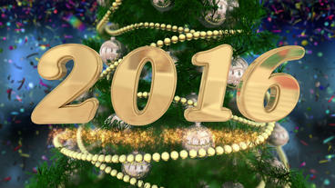 New Year 2016 & Countdown Stock Footage