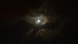 Moon At Night And Clouds Passing By stock footage