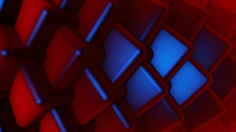 blue lights cube Animation
