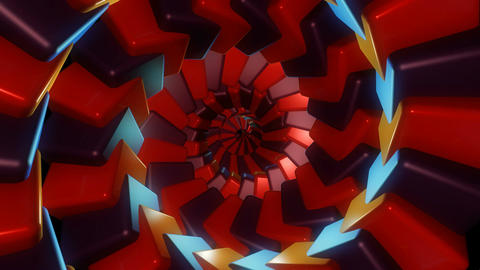 colorful cube tunnel Animation