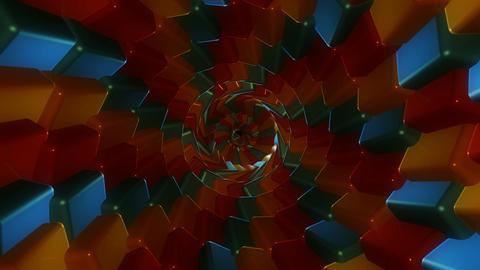 retro color twirl Animation