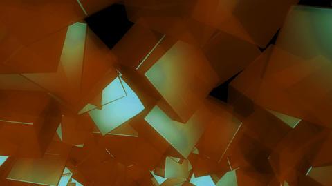 glossy yellow cube Animation