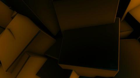 random yellow cube Animation