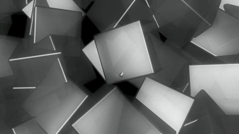 grayscale cube rotation Animation