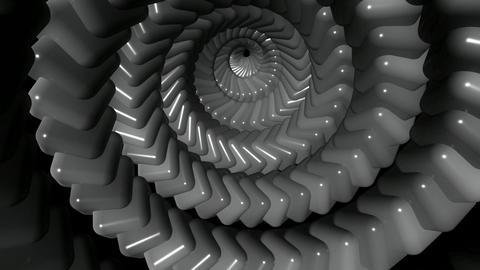 metalic cube twirl Animation