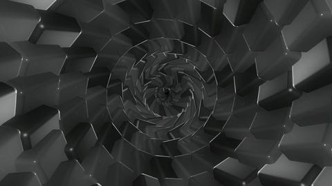 greyscale cubes twirl Animation
