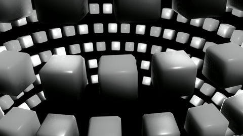orbit cube greyscale Animation