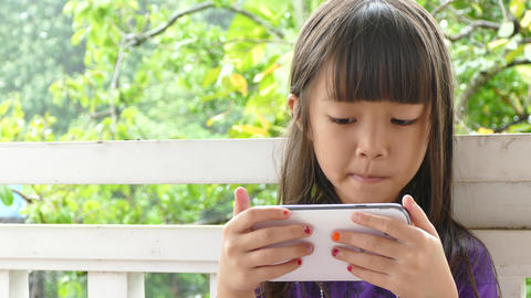girl using touchscreen devices Footage