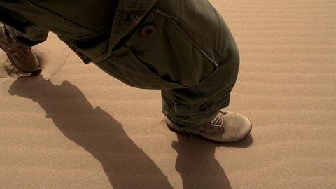 Patrolling Desert HD Footage