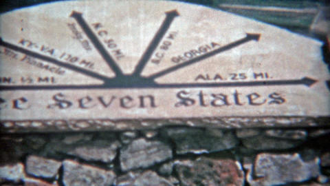 1957: See These Seven States: Tennessee,Kentucky,Georgia,Alabama,Virginia,North  stock footage