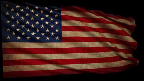 OLD Flag USA Still GIGANT 4k Loop All Frame Alfa stock footage