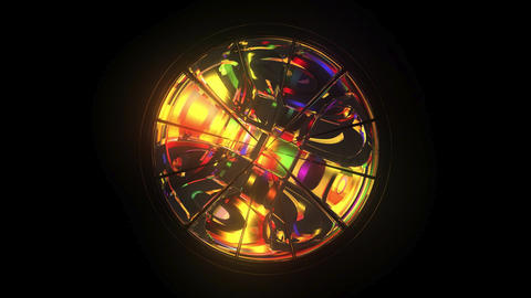 Kaleidoscope: Mirror 3D Model, Rainbow Colours, 6 second... Stock Video Footage