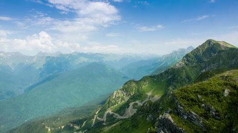 Kaukaz Mountains Time Lapse Footage